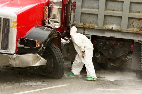 Truck Diesel Fuel Leak Causes Traffic on Route 50